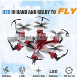 H20 2.4G 6-Axis RC Hexacopter Quadcopter RC Drone Mini Headless Mode Support Remove Battery Red