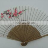 folding bamboo paper hand fan frame