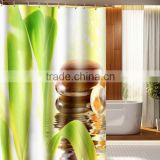 Digital Printed Green Plants Shower Curtain