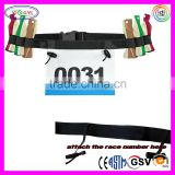 E106 Sports Race Number Belt Bibs Products with 6 Gel Loops Adjustable Bib Number