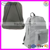 "B597 Classic Basic Backpack Canvas Simple Daypack 17"" Student White Canvas Backpack"