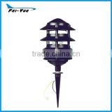 Die-Casting Aluminum 4 Tiers garden pagoda spike light low voltage