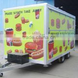 Food trailer,Box trailer,catering trailer,wing opening trailer,Mobile catering Dining Trailers/Dining car trailer/semi-trailer/