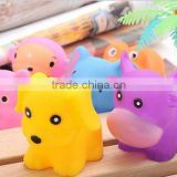 baby cute funny bath animal toy ,natural plastic bath toys for kids, pvc cute swimming pool toys