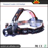 XQ50 T6 LED 1200Lumens Rechargeable LED Headlamp Waterproof 3 modes LED Headlight