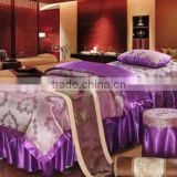 Beauty salon/spa cotton/polyester single bed fitted massage table sheet/cover
