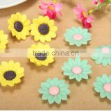 30 mm diy sun flower ceramic charms pure handmade ceramic beads for necklace jewelry accessories