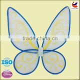 factory wholesale blue color net yarn material butterfly wings for kids