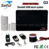 OEM high quality Saful G3 doorbell Intelligent home security GSM alarm system 4G Cellular GSM Wireless Security Alarm System Quad-band Support 2G/3G/4G