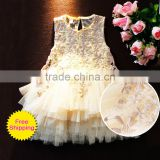 1-10T princess girls party dresses kids ivory lace dress posh tiered petti tutu dress baby girl clothes summer M5042004