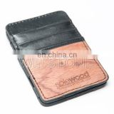 Slim genuine leather card holder magic wallet