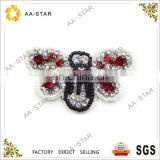 Butterfly pattern bead and stone appliques for clothes decoration