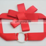 customize red packing bow elastic loop