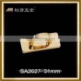Fashionable Gold Plated Metal Accessory For Ladies Bag, Custom Gold metal Arch Bridge For Bags, Zinc Alloy Metal Fitting