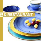 High quality restaurant hote use color glazed stoneware ceramic plate