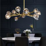 K9 Crystal Chandelier LED crystal molecule Pendant Lamp Used home dinning room, living room