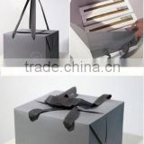Luxury black paper bag with dot chocolate box packaging paper bag printing paper shopping bag