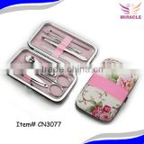 7pcs Manicure set flower design case beauty tools set