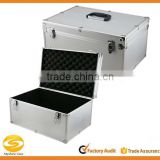 Aluminum Hard Case Silver DJ Tool Box with Internal Divider,Aluminum DJ Storage Flight carrying case