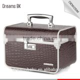 Beautiful stylish design cosmetic beauty case, pvc vanity portable groom case, makeup tool storage case