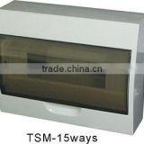 TSM-15ways Surface Distribution Box(Electrical Distribution Box,Plastic Enclosure)