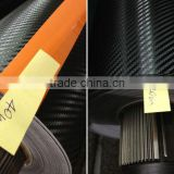 Premium quality carbon fiber vinyl roll self adhesive black car sticker 3d car wrap rolls