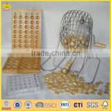wooden bingo balls lotto game set from china manufactry