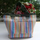 Newest hot selling low price recycle pocket shopping bag, pp shopping bag, pp woven and non woven shopping bag