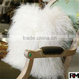 China factory direct selling 100% real Tibetan Mongolian Lamb Skin Fur Pillow in natural white color