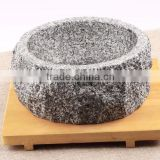 Granite portable stone bowl kitchen cookware marble bowl