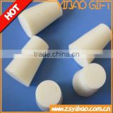 Custom high density silicone rubber stopper with hole