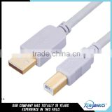 Xinya hot selling original factory gold-plated USB printer cable