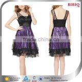 crystal diamond cocktail dresses korea fashion dress two tone gowns brand western party wear dresses