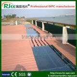 Wood plastic swimming pool deck with anti-slip and anti UV feature
