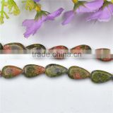 latest design beautiful teardrop semi precious stones beads