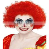 Neon Blue Curly Afro Wig Circus Clown Football Fan Fancy Dress