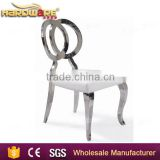 stainless steel cross back banquet chair , hotel wing back dining chair                                                                                                         Supplier's Choice