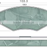 auto parts for peugeot, auto Brake Pads for Peugeot 405 OEM 4251.56