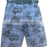 High quality flower printed boys board short kids beach short