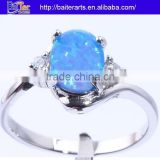 Hot !Custom 925 Sterling Silver Bridal Set Opal Engagement Rings