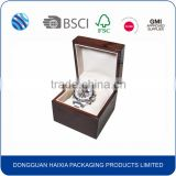 Logo print wooden single watch box wholesale                                                                         Quality Choice
