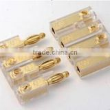 Car audio Gold plated banana block 4 males +4 females,car audio accessories