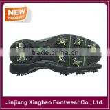 2016 Hot Sale Soft Rubber Golf Shoe Sole With Screw Studs Removable Spikes Outdoor Training