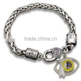 Hot Alloy NFL Charms Bracelet Antique Sliver Washington Redskins Football Charm Bracelet