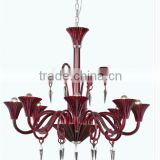 Wholesale Modern Design European Amber Chandelier pendant lamp .baccarat style .Redwine color .K9 crystal chandelier