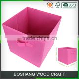2016 Pink Non-Woven Fabric Light Storage Box                                                                         Quality Choice