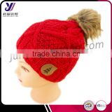 Customized winter wool felt acrylic knit hats with fur pom pom factory professional manufacturer sales(can be customized)