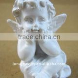 Sleeping baby angel,white porcelain angel