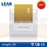 New design Knight series hotel power inserting card wall switches