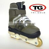 Professional speed aggressive 4 wheel roller skates for men Leather Aluminum Holder made in china